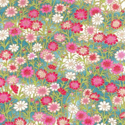 Papier japonais paquerettes roses