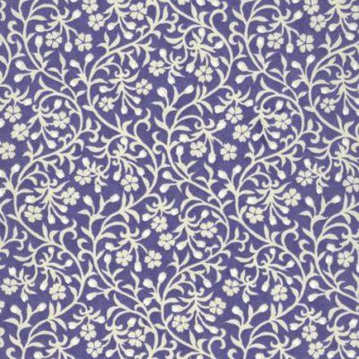 Image-papier japonais, chiyogami (yuzen), fond lavande, sérigraphie de petites fleurs blanches