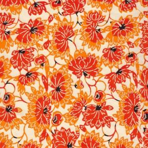 japonais-katazome-shi-fond-clair-impression-de-fleur-de-lotus-orange-jaune