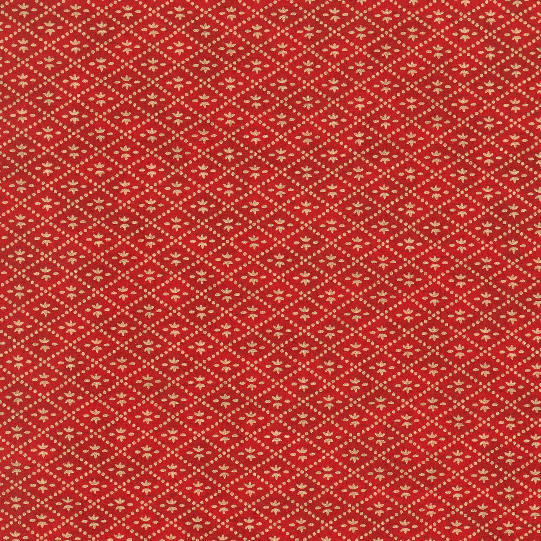Papier japonais fond rouge losanges dorés