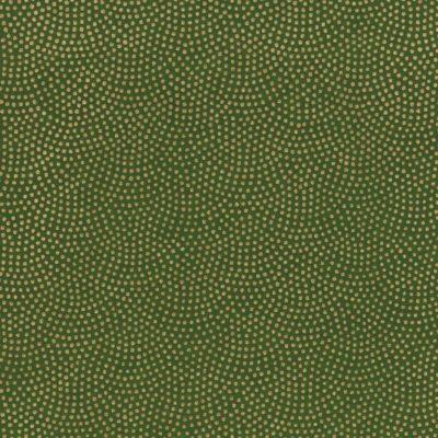 Papier japonais vert points dorés