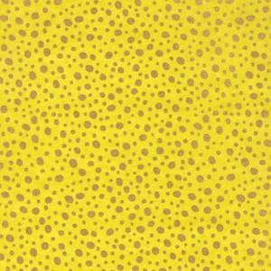 Image-papier-japonais-chiyogami-yuzen-uni-vert-anis-avec-impression-de-gouttes-d-or-moyennes-et-petites