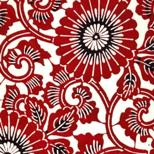Image-papier-japonais-katazome-shi-fond-naturel-impression-de-motifs-floraux-noir-grenat
