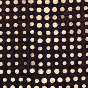 papier-nepalais-fantaisie-fond-noir-impression-de-pois-a-la-cire