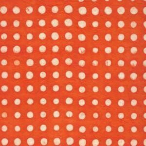 papier-nepalais-fantaisie-fond-orange-pois-a-la-cire-naturelle