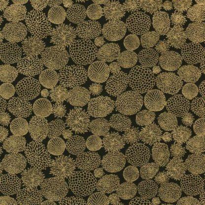 Papier japonais fleurs dorées