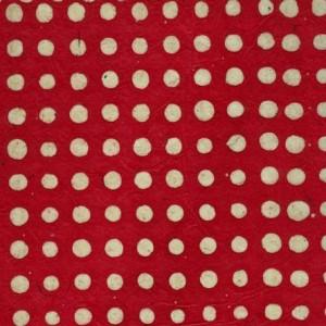 Image-papier-nepalais-fond-rouge-impression-de-pois-a-la-cire-naturelle