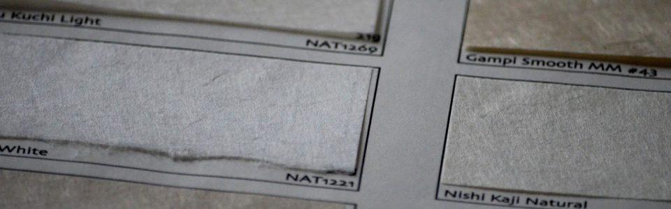 Papiers japonais en fibres naturelles
