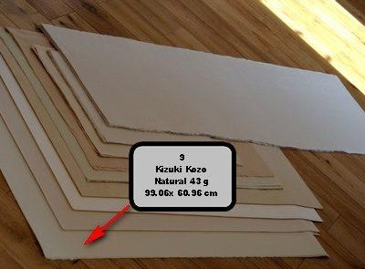 feuilles papiers kozo