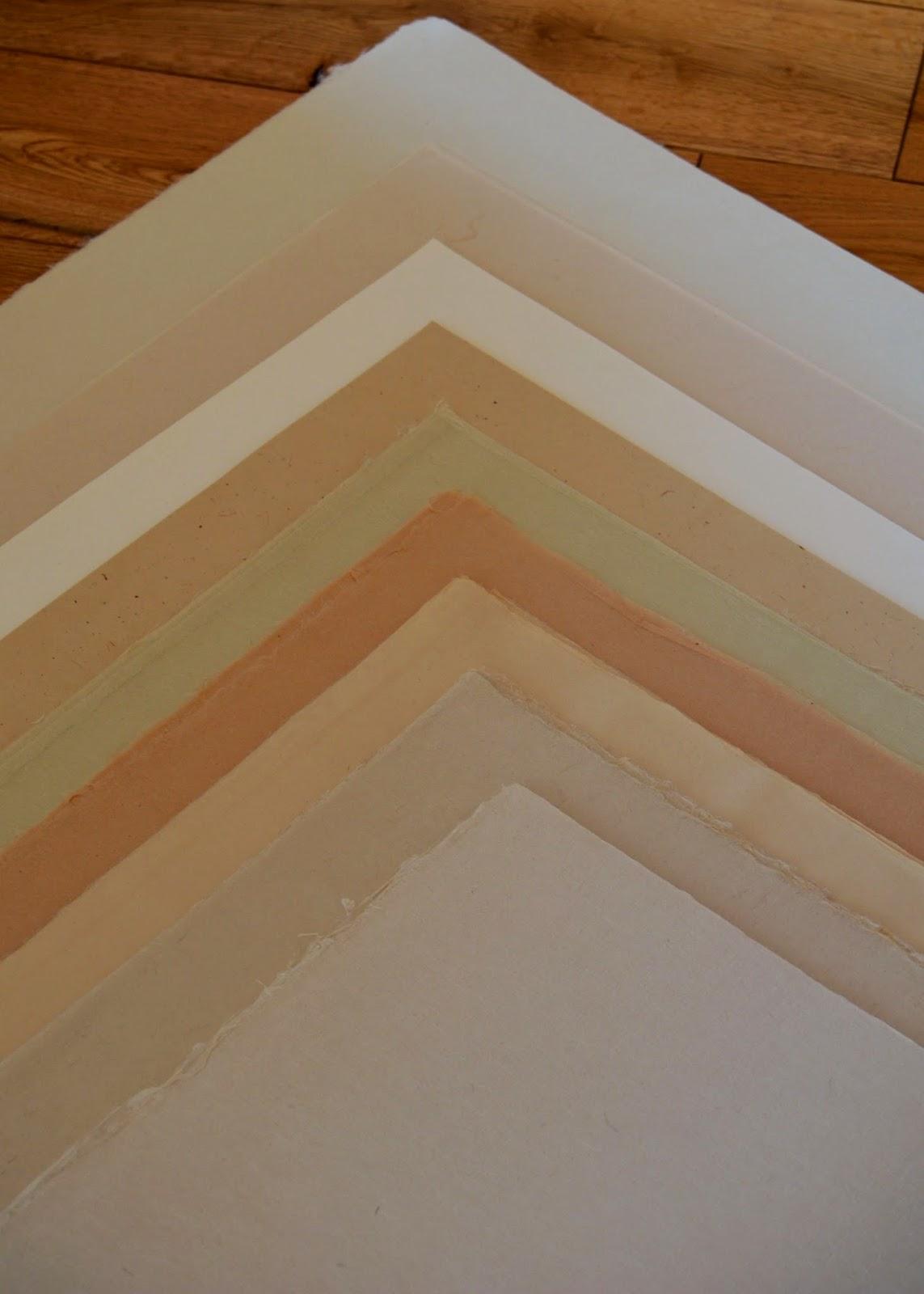 Papier japonais en fibres naturelle, kozo