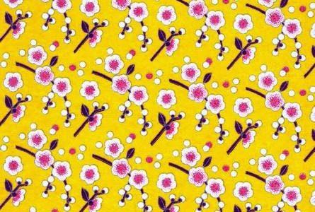 Papier japonais jeune aux fleurs roses