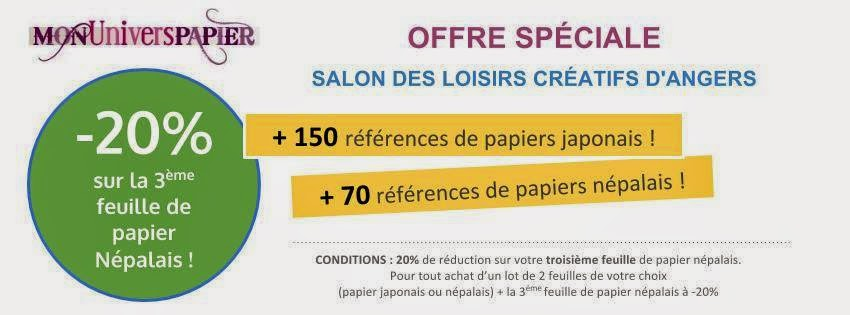 une promotion sur les papiers n palais au salon d 39 angers papiers japonais mon univers papier. Black Bedroom Furniture Sets. Home Design Ideas