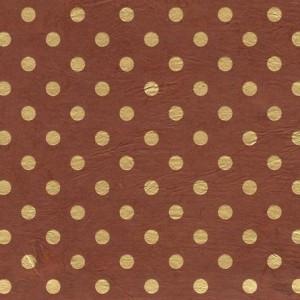 Image-papier-nepalais-fantaisie-fond-marron-impression-de-pois-dores