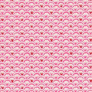 Papier japonais chiyogami vagues roses