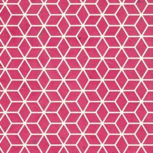 Image-papier-nepalais-fantaisie-fond-rose-fuschia-impression-de-motifs-geometriques-blancs