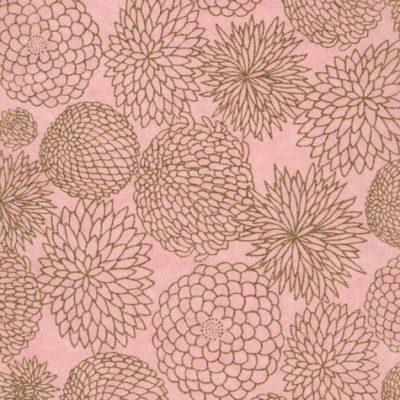 Papiers japonais rose et doré