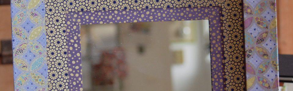 Miroir en papier japonais