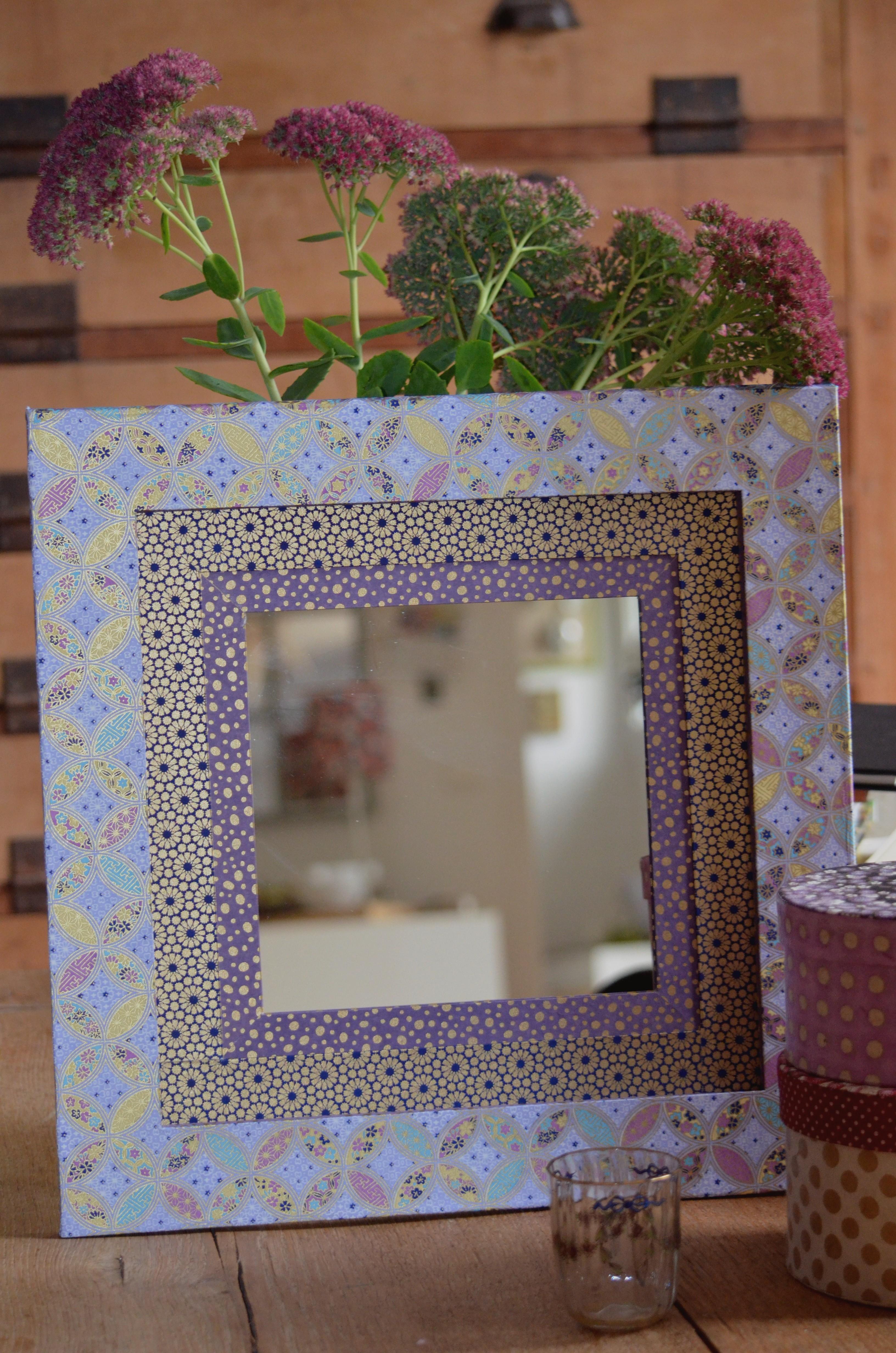 Des papiers japonais pour un miroir for Miroir japonais