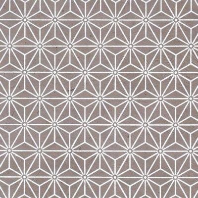 Papier népalais taupe motif géométrique