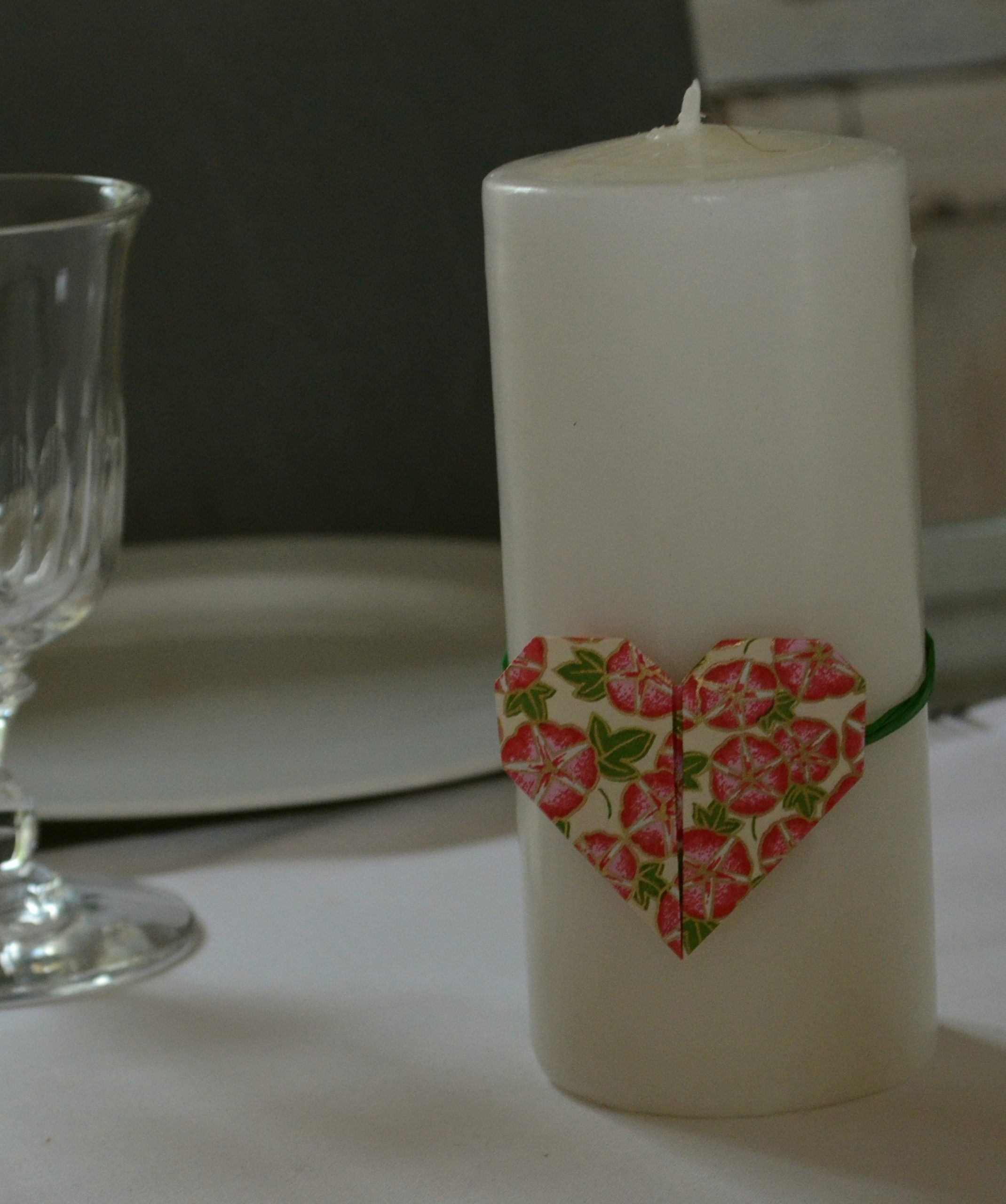 Origami en papier japonais pour la Saint-Valentin