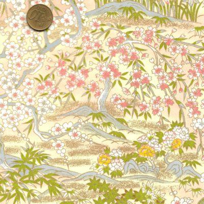 Papier japonais cerisiers en fleurs