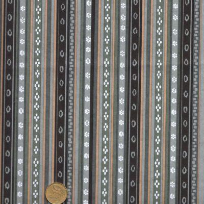 Papier japonais à rayures noires et grises