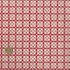 Papier népalais aux motifs rouges façon torchon