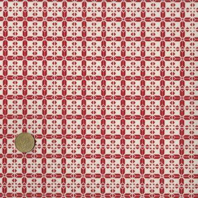 """Papier népalais aux motifs rouges façon """"torchon"""""""