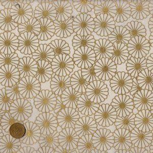 Papier népalais blanc et doré