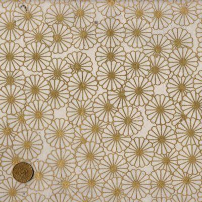 Papier népalais blanc et fleurs dorées