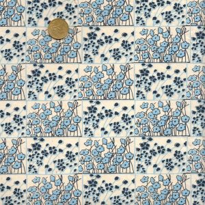 Papier népalais bleu fleuri