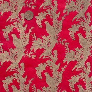 Papier népalais rouge et doré