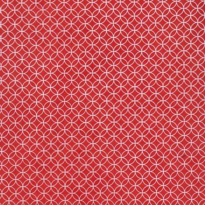 Papier népalais rouge rosaces blanches