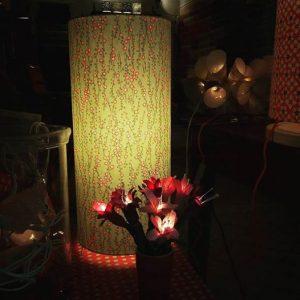 Agnès Clairand, Lumières & Papiers, guirlande lumineuse, crocus, en papier népalais