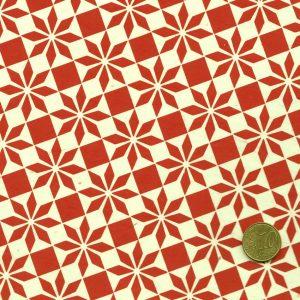 Papier népalais aux motifs géométriques rouges
