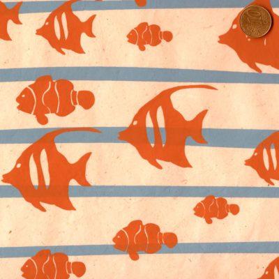 papier népalais aux poissons chocolats