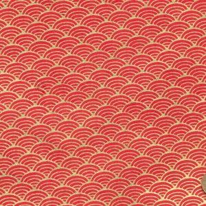 Papier népalais aux vagues dorées imitant le papier japonais