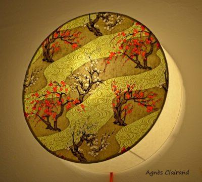 Applique lumineuse en papier japonais traditionnel