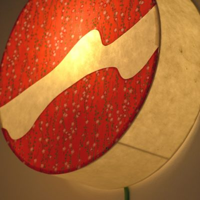Applique lumineuse en papier japonais