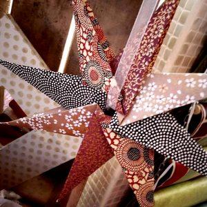 etoile en origami en papier japonais