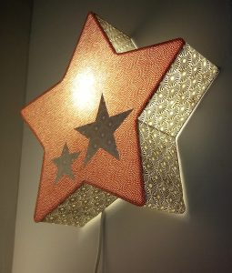 Applique lumineuse étoile