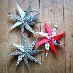 etoile origami papier japonais