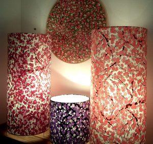lampe, guirlande, carte de voeux, bougies, photophores, origami