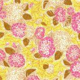Papier japonais aux hortensias roses