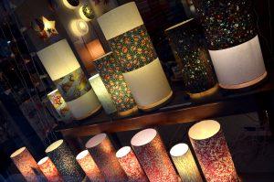 Lampes à poser en papiers japonais