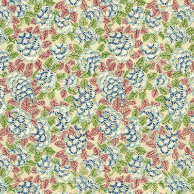Papier japonais aux fleurs bleues cotonneuses
