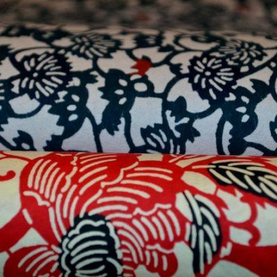 papiers japonais chiyogami katazome fibres naturelles origami. Black Bedroom Furniture Sets. Home Design Ideas