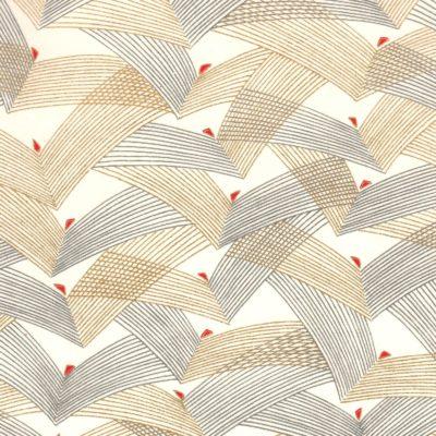Papier japonais fond naturel traits noirs et dorés