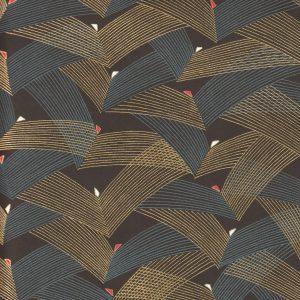 Papier japonais fond mat traits dorés et gris