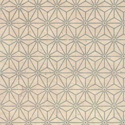Papier népalais fond beige motif tête de diamant beige